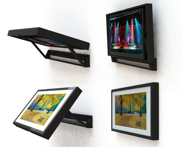 Flip-Around Motorized TV Mount