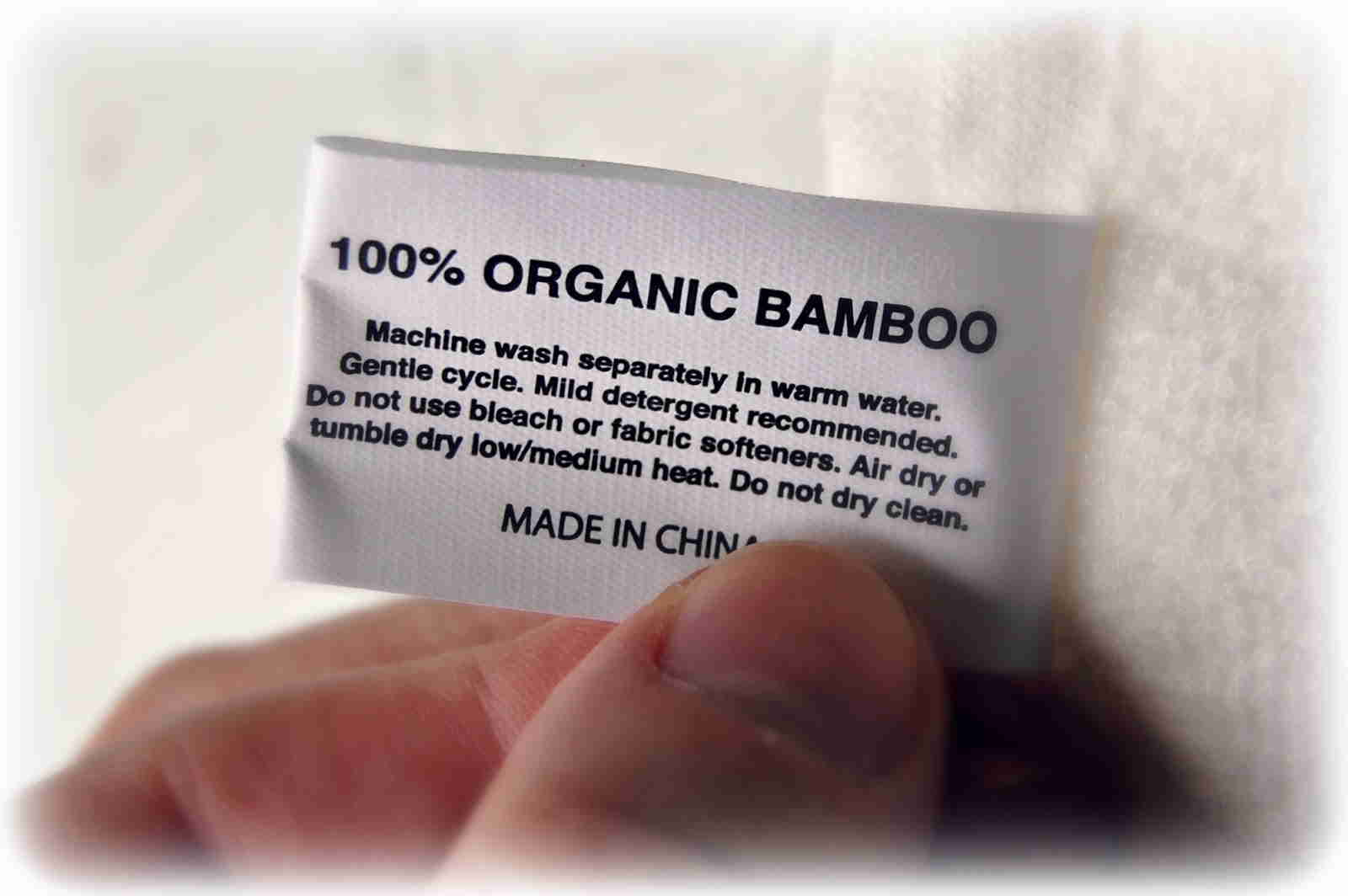 Bamboo underwears material tags